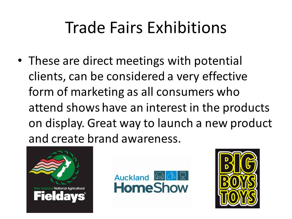 Trade Fairs Exhibitions
