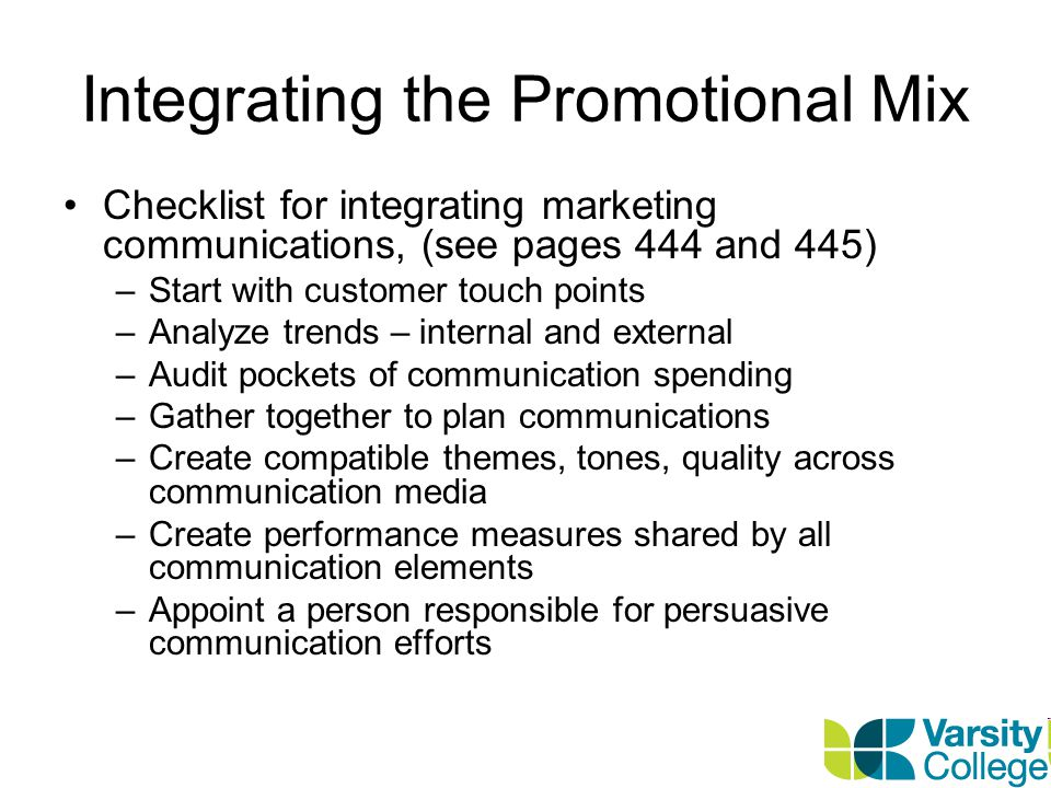 Integrating the Promotional Mix