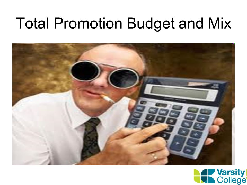 Total Promotion Budget and Mix