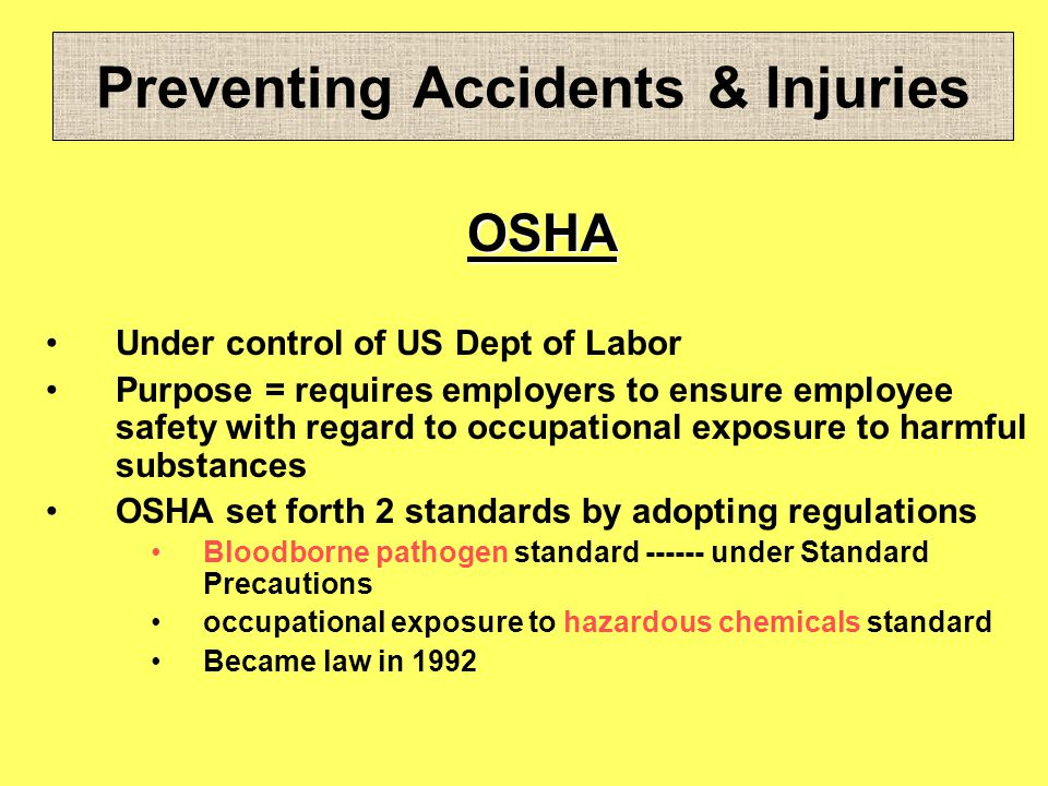 Preventing Accidents & Injuries