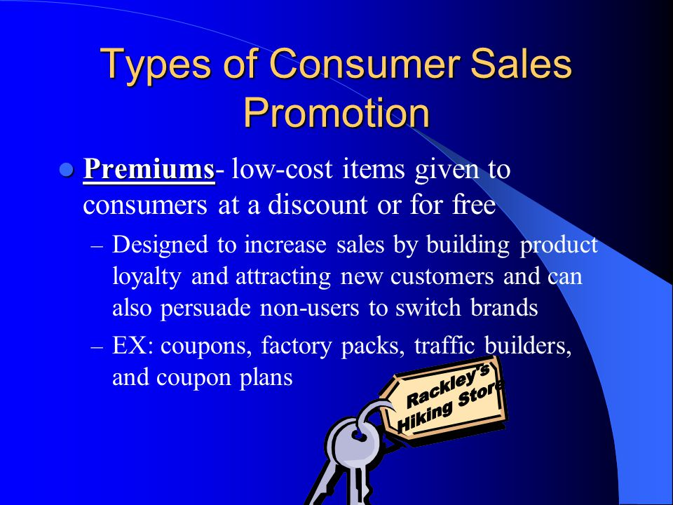 Types of Consumer Sales Promotion