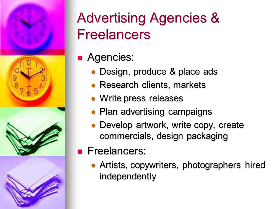 Advertising Agencies & Freelancers