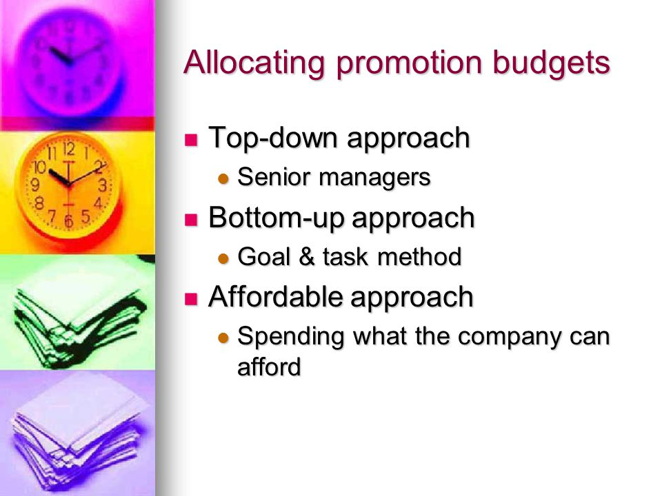 Allocating promotion budgets