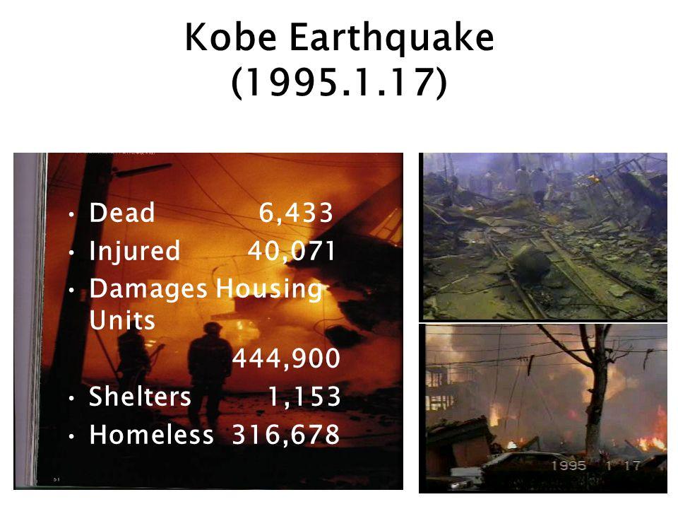 Kobe Earthquake (1995.1.17) Dead 6,433 Injured 40,071