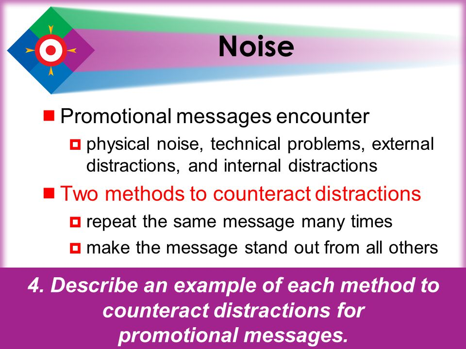 Noise Promotional messages encounter