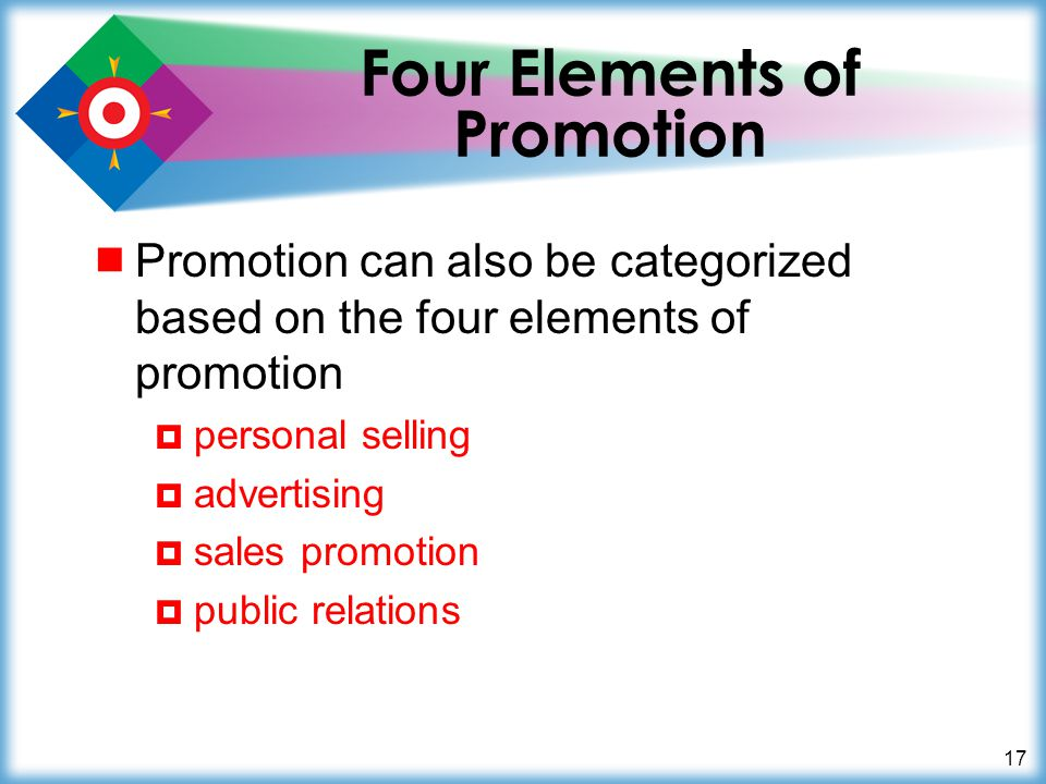 Four Elements of Promotion