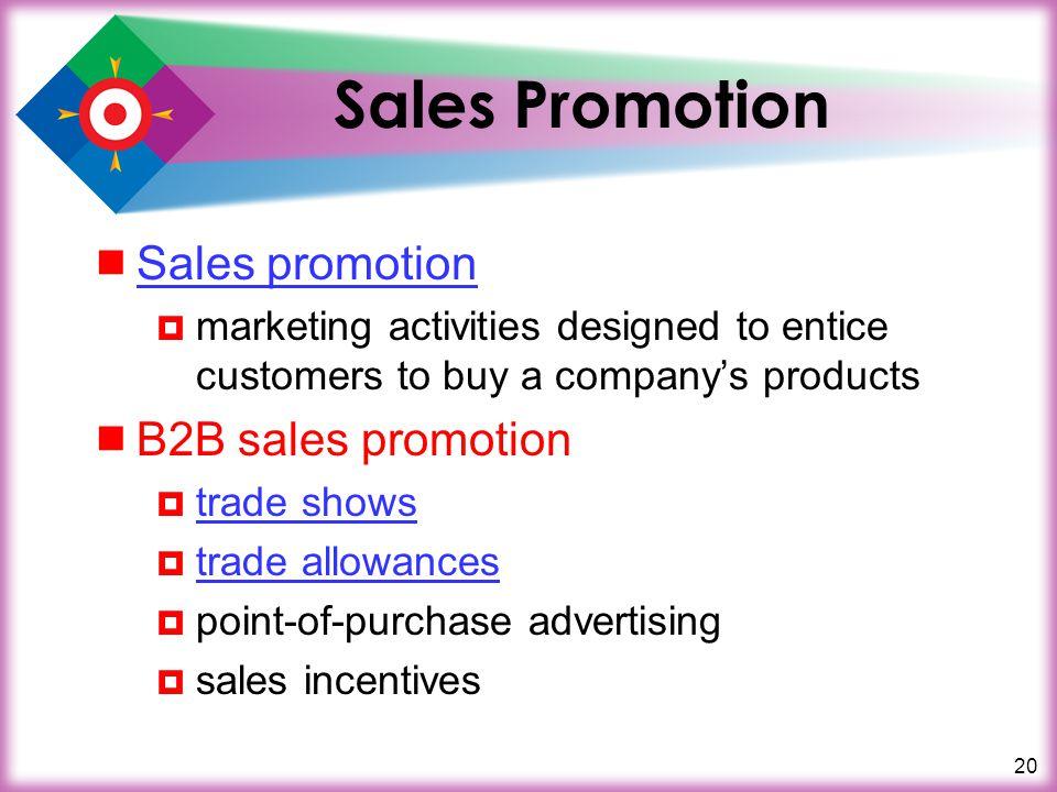 Sales Promotion Sales promotion B2B sales promotion