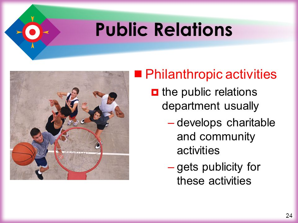 Public Relations Philanthropic activities
