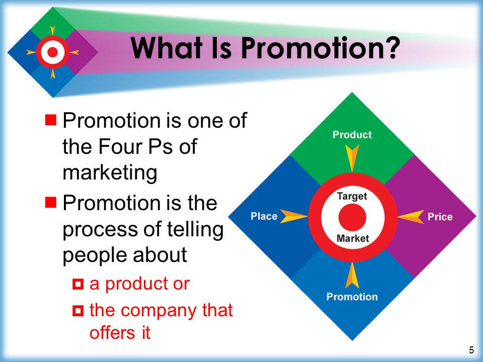 What Is Promotion Promotion is one of the Four Ps of marketing