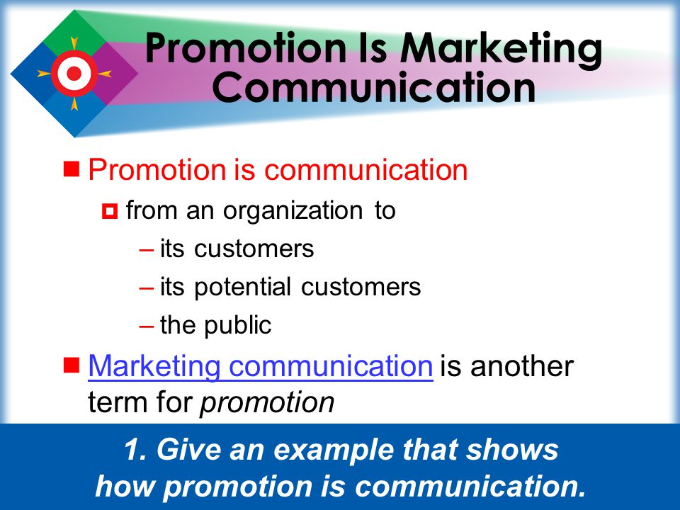 Promotion Is Marketing Communication