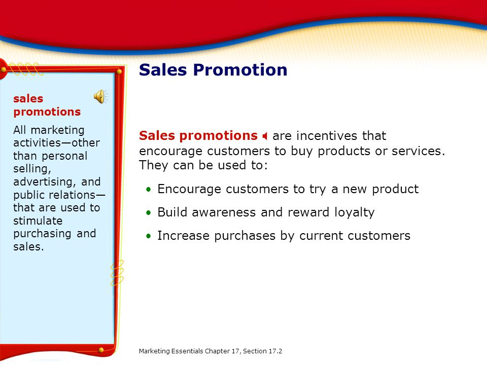 Sales Promotion sales promotions.