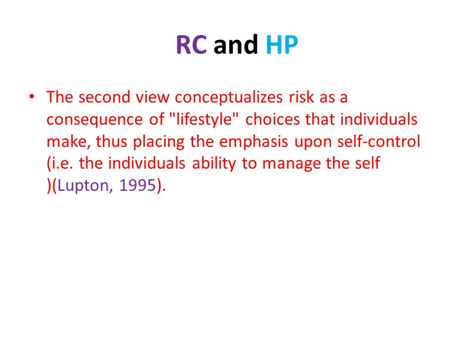RC and HP