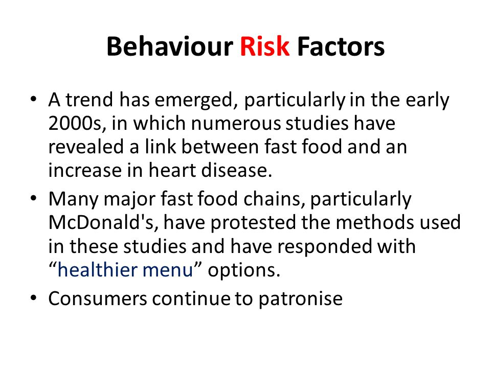 Behaviour Risk Factors
