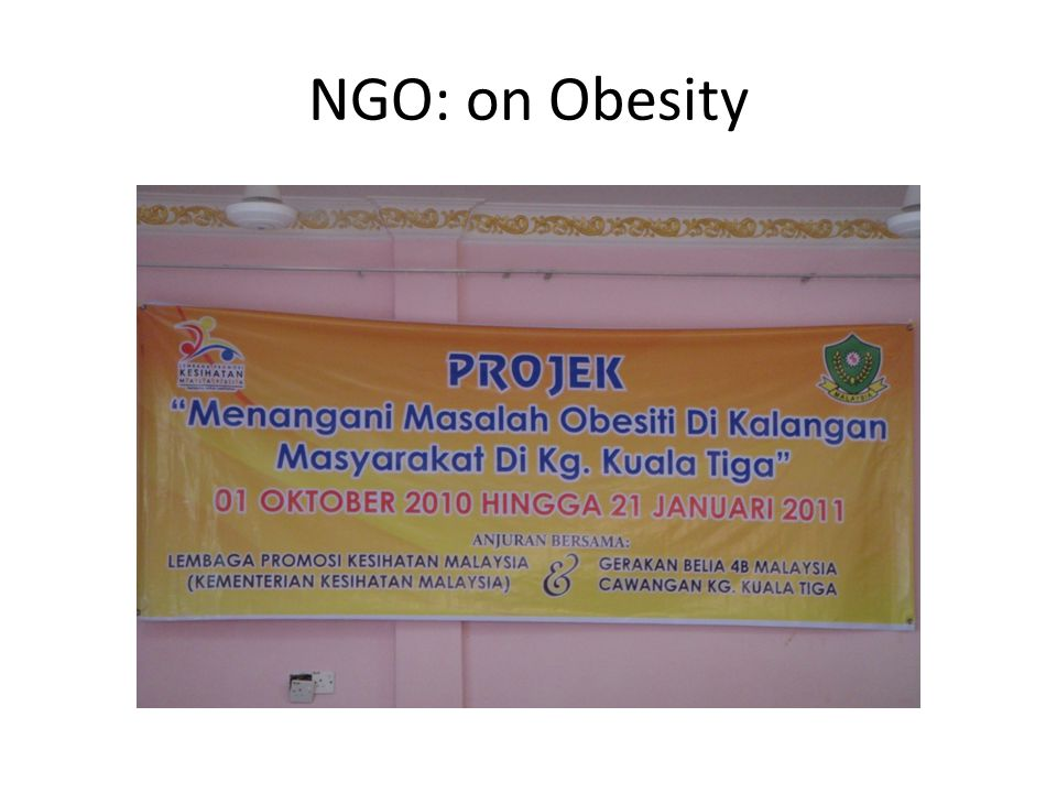 NGO: on Obesity