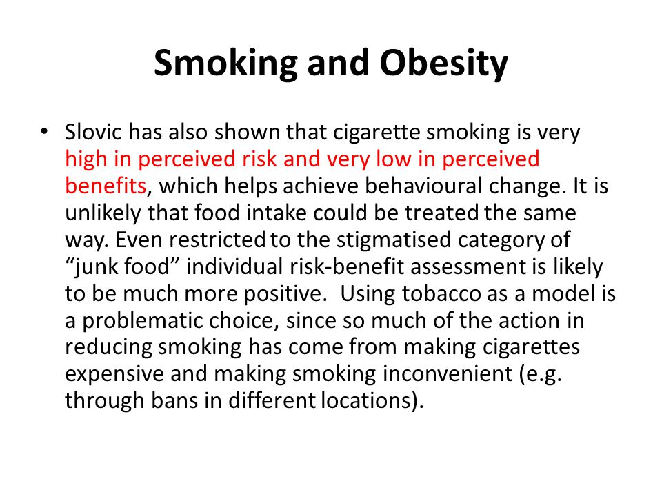 Smoking and Obesity