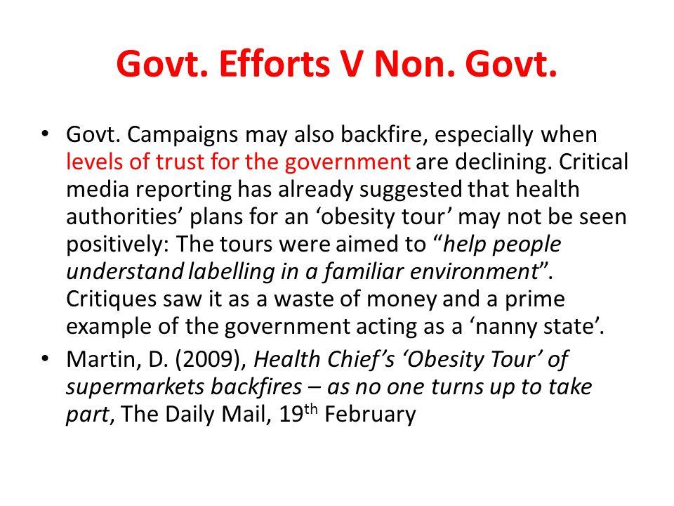 Govt. Efforts V Non. Govt.