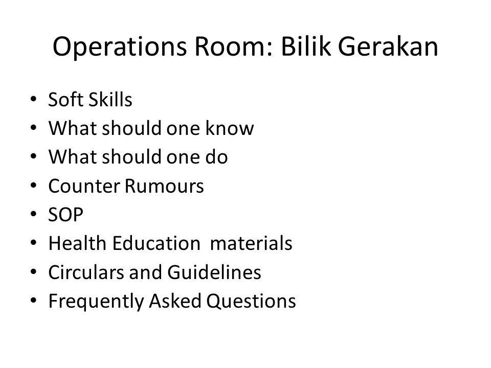 Operations Room: Bilik Gerakan