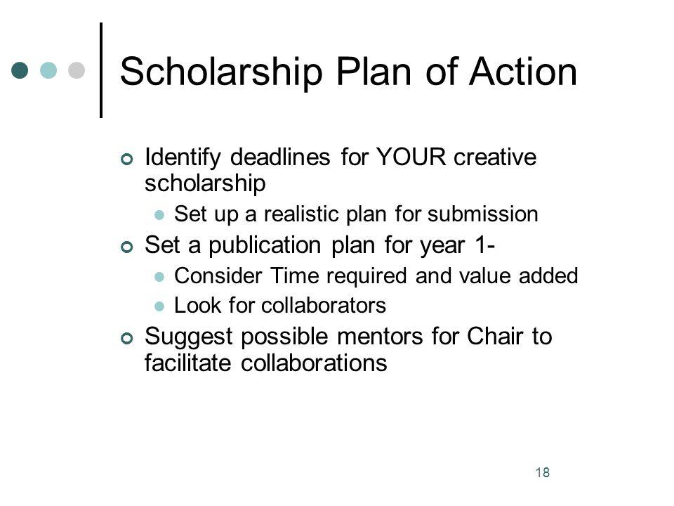 Scholarship Plan of Action