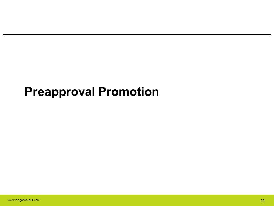 Preapproval Promotion