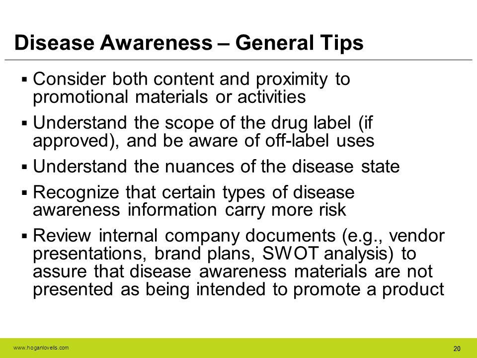Disease Awareness – General Tips