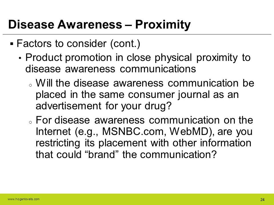 Disease Awareness – Proximity