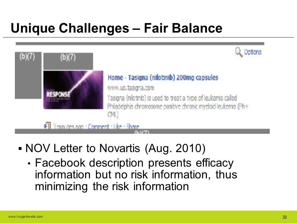 Unique Challenges – Fair Balance