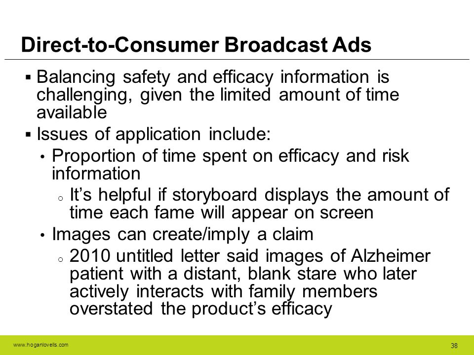 Direct-to-Consumer Broadcast Ads