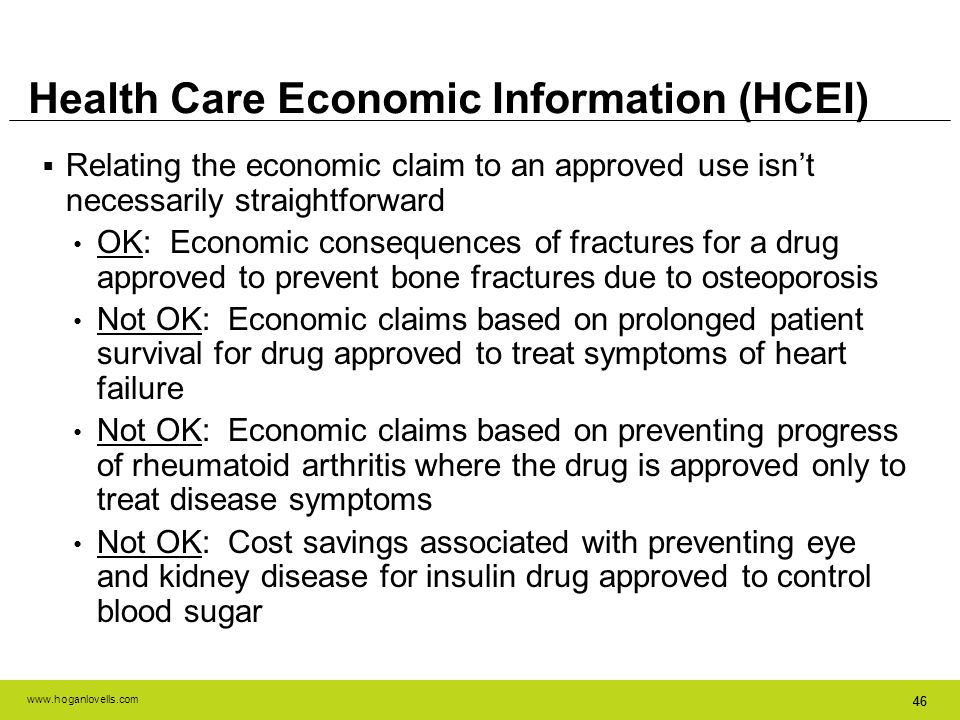 Health Care Economic Information (HCEI)