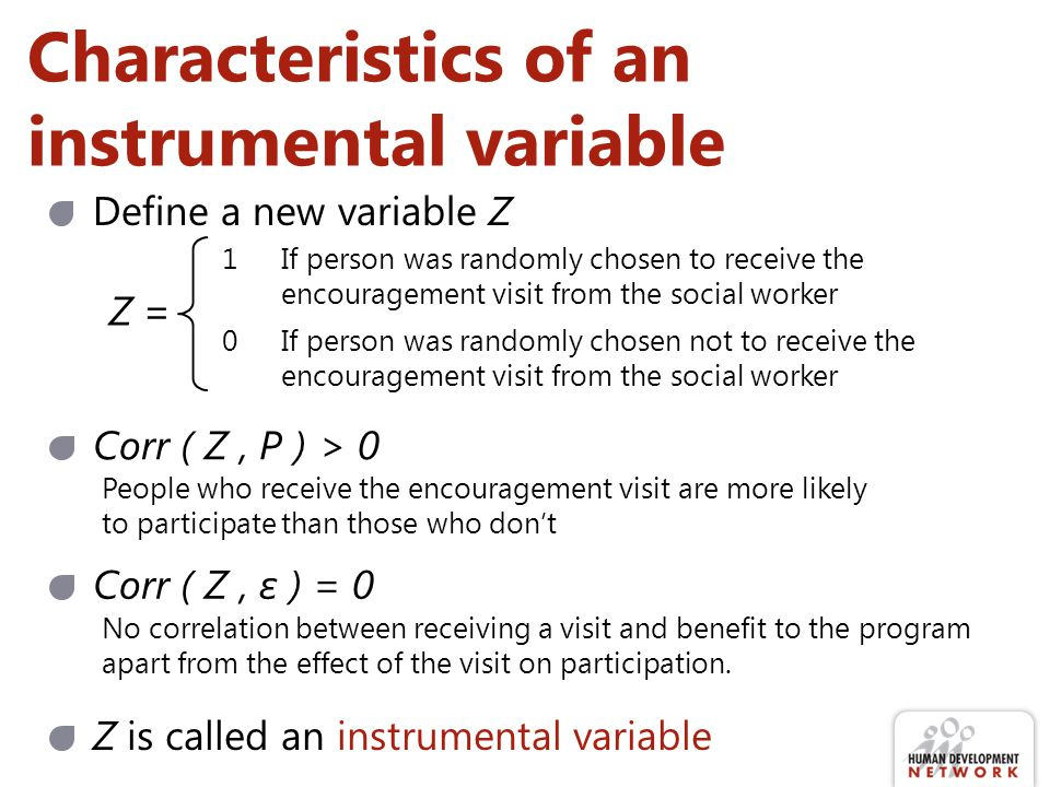 Characteristics of an instrumental variable