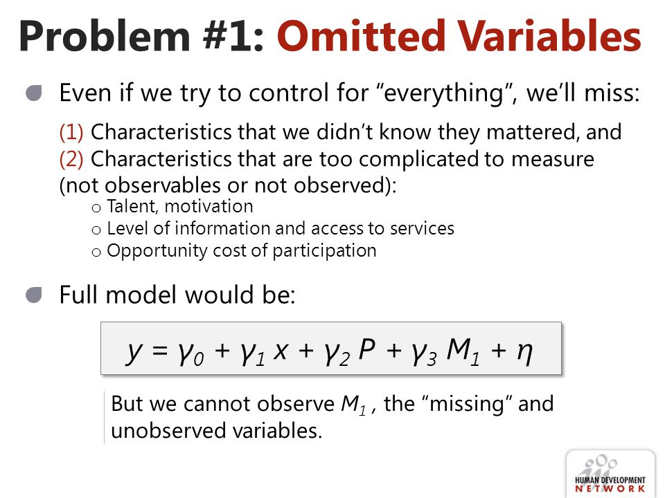 Problem #1: Omitted Variables