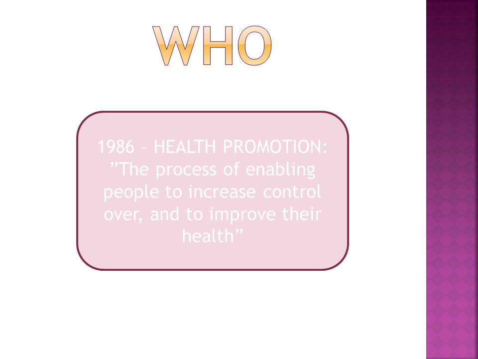 who 1986 – HEALTH PROMOTION: