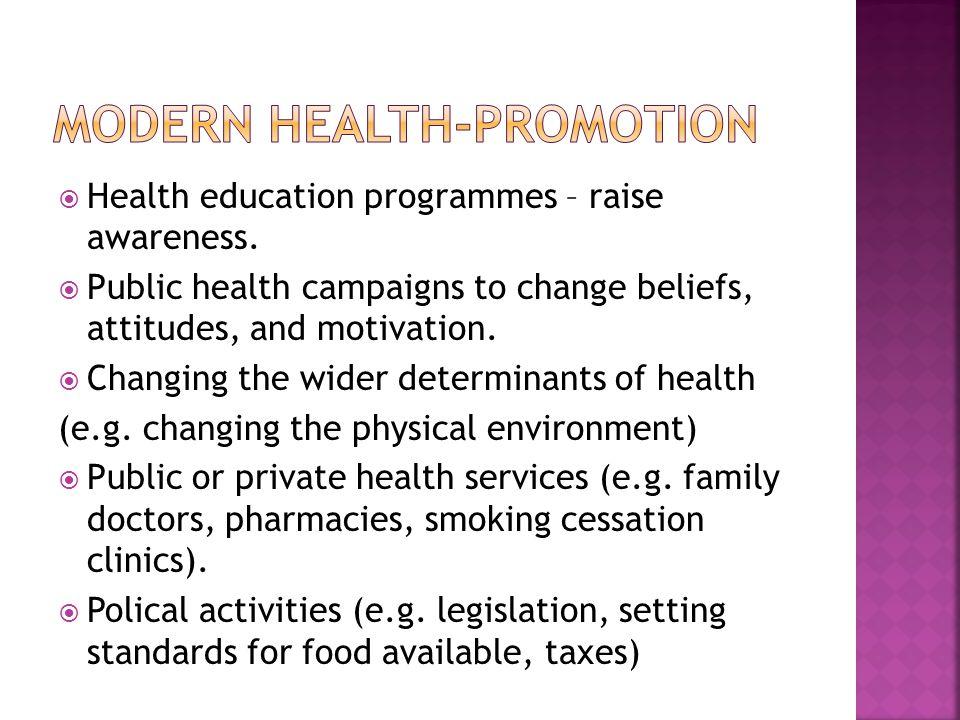 Modern health-promotion