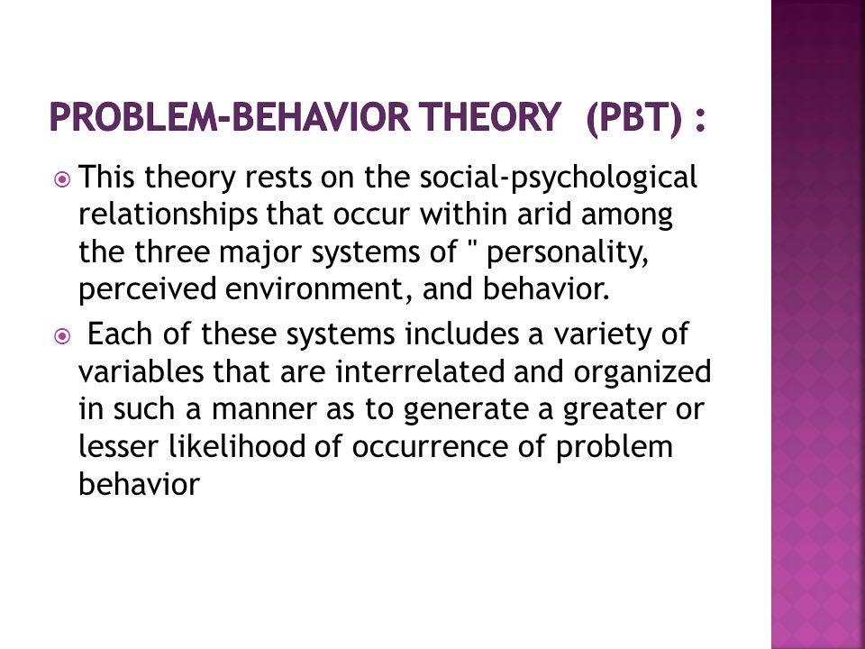 Problem-Behavior Theory (PBT) :