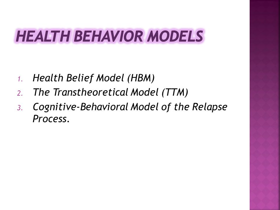 Health Behavior Models