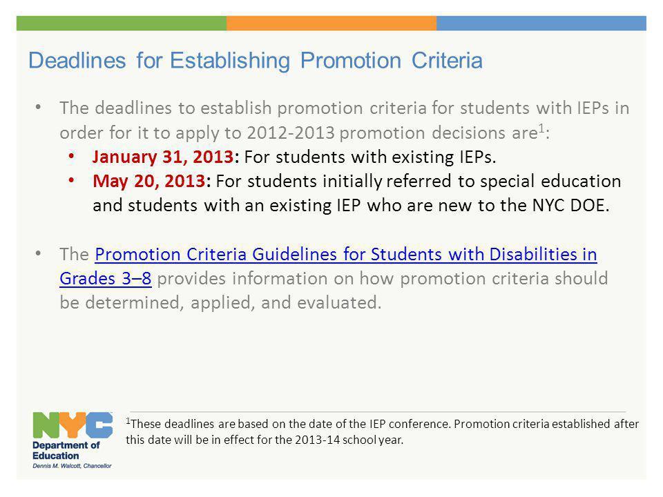 Promotion Criteria Discrepancies