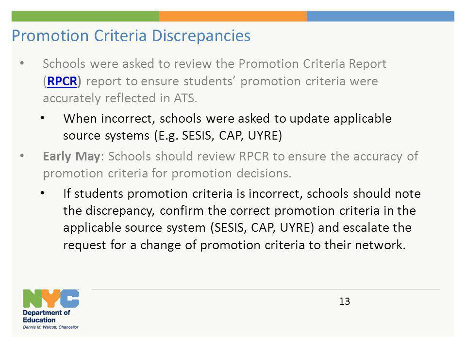 Promotion Criteria Overrides
