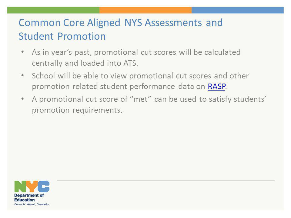 Release of Final NYS Test Results