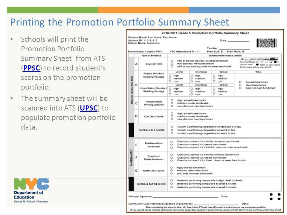 Enter 'Y' to Print Portfolio Scan Sheet