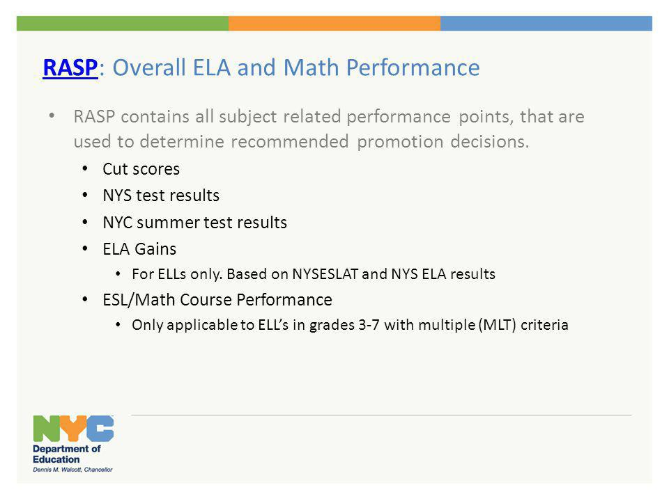 Overall ELA and Math Performance (Determine Recommended Decision on PDEC)
