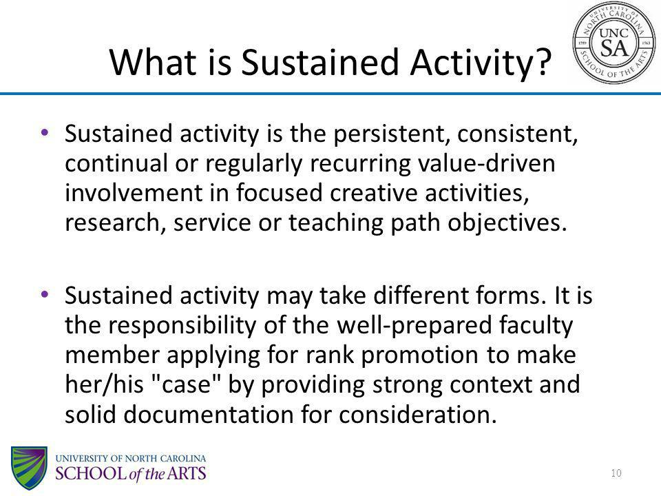 What is Sustained Activity