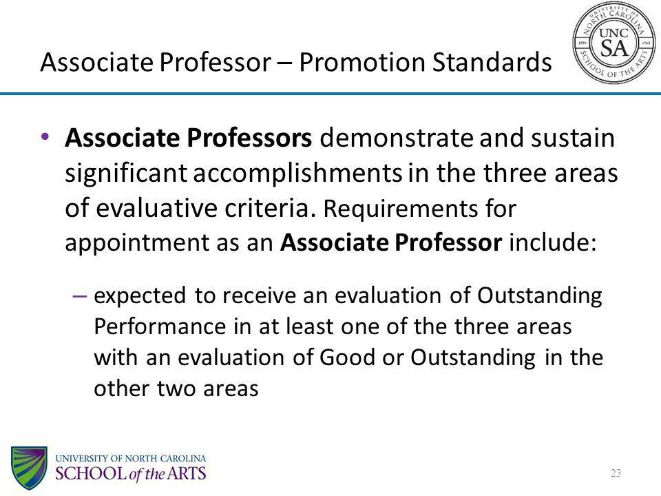 Associate Professor – Promotion Standards