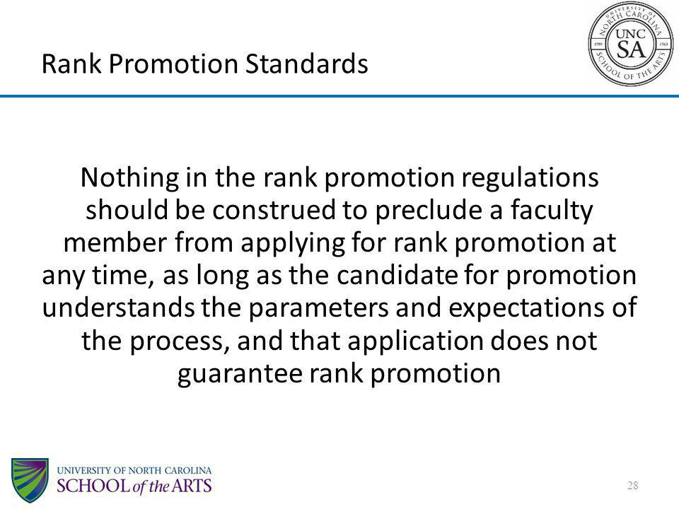 Rank Promotion Standards