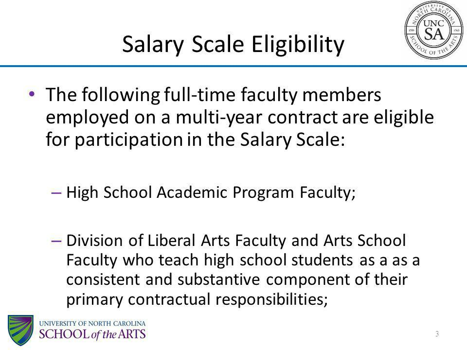 Salary Scale Eligibility