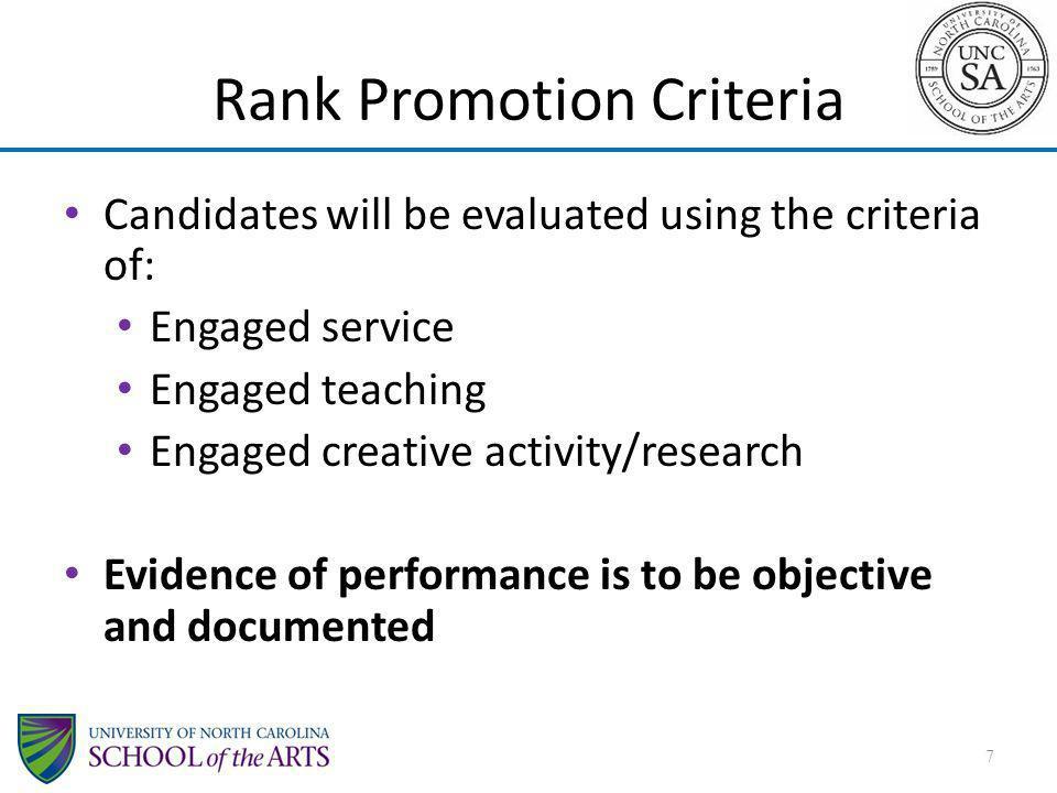 Rank Promotion Criteria