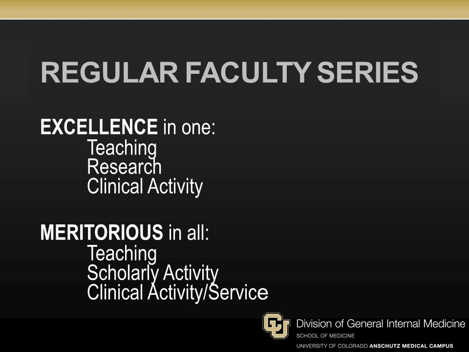 Regular faculty series