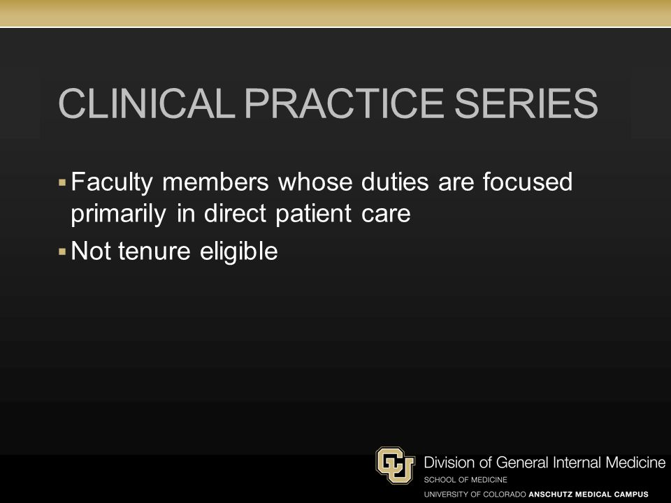Clinical practice series