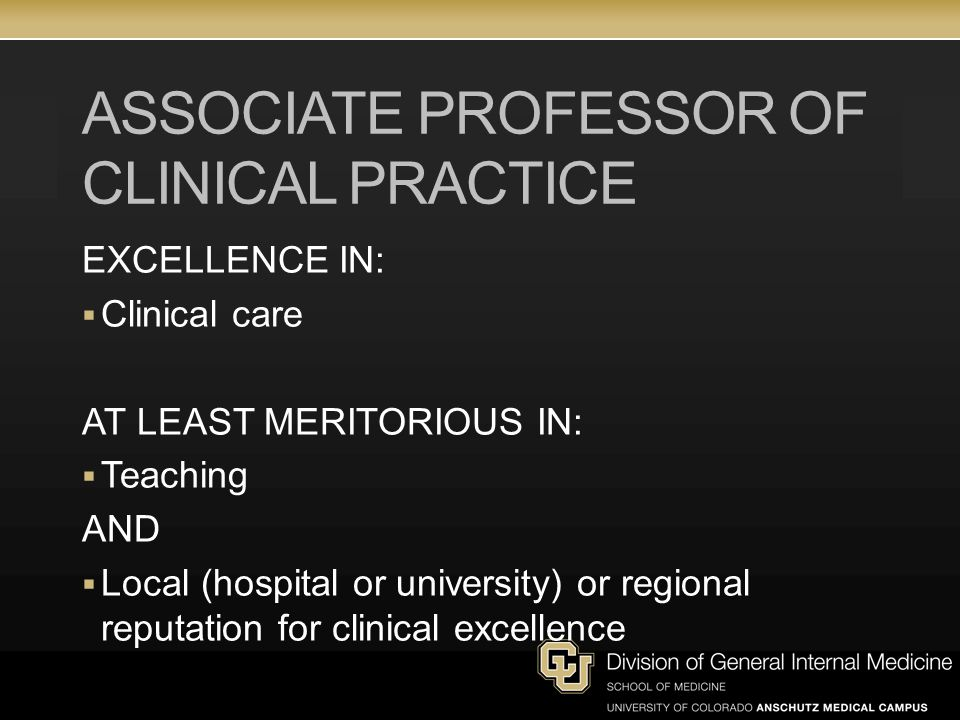 Associate Professor of Clinical Practice