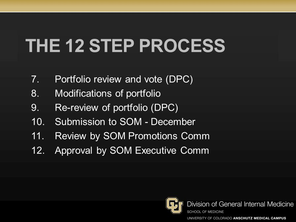 THE 12 STEP PROCESS