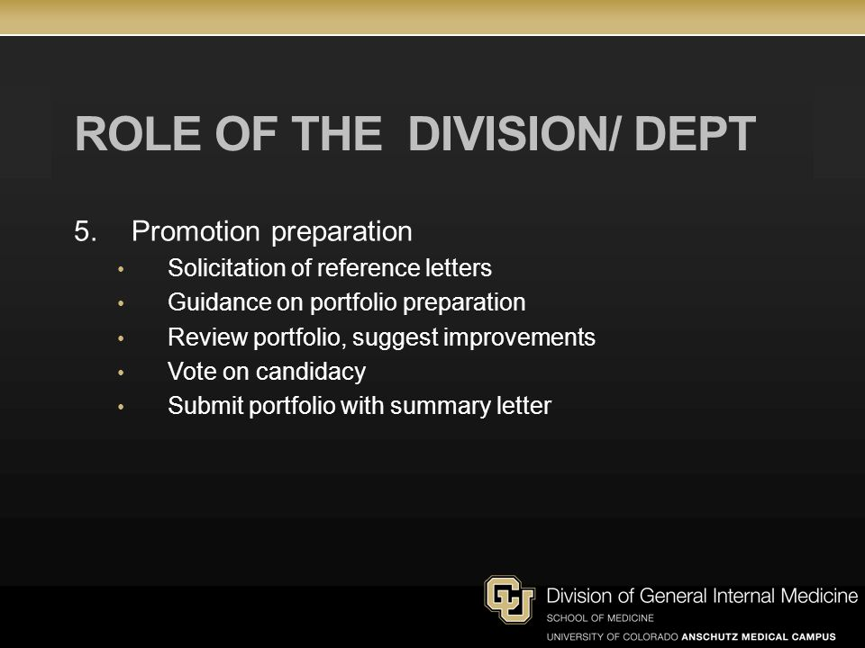ROLE OF THE division/ dept