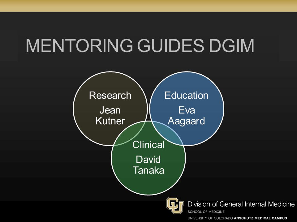 Mentoring Guides DGIM Jean Kutner Research David Tanaka Clinical